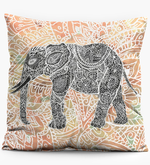 Indian Elephant pillow Thumbnail 1