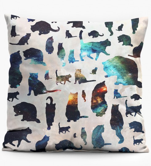 Galaxy Cats pillow Miniature 1