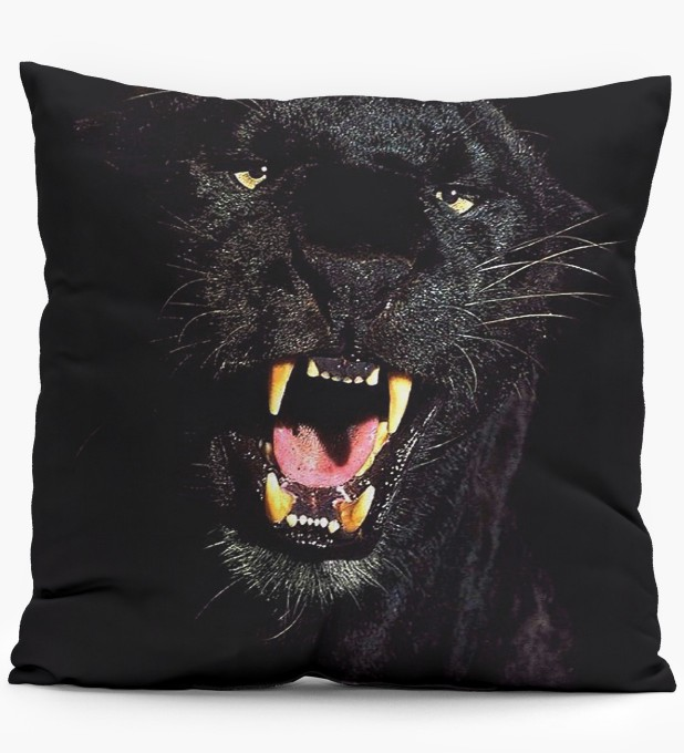 Black Pantera pillow Miniature 1