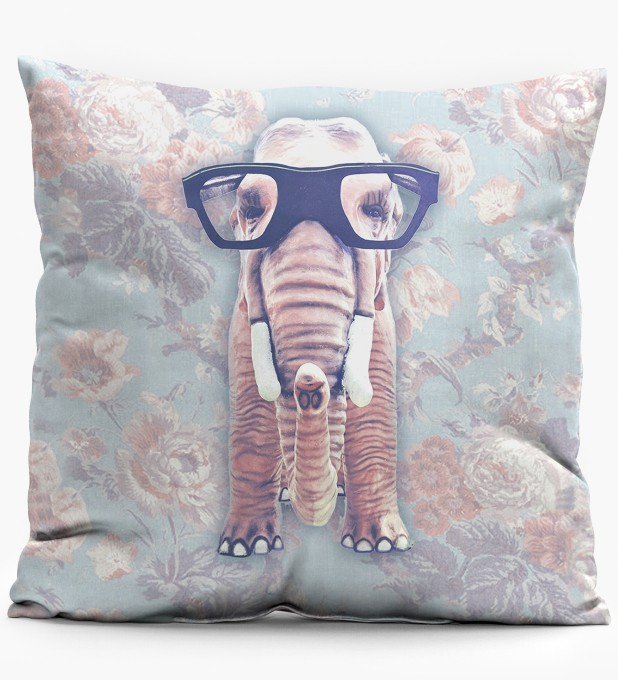 Hip Elephant Net pillow Miniature 1