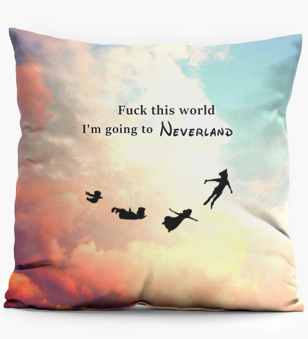 I am going to neverland pillow Miniature 1