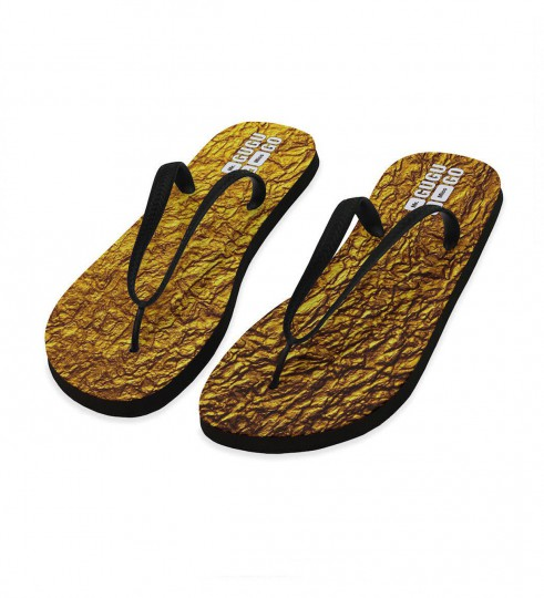 Gold flip flops Miniature 1
