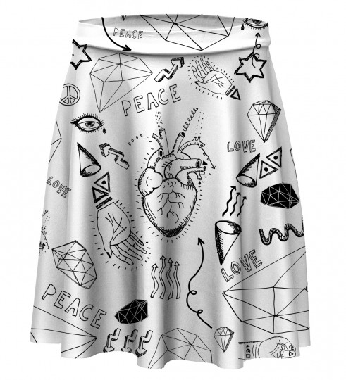 Love icons skater skirt Miniatura 1