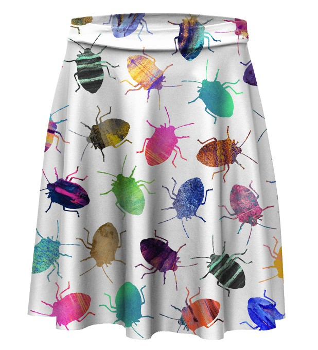Colorful Cockroaches skater skirt Thumbnail 1