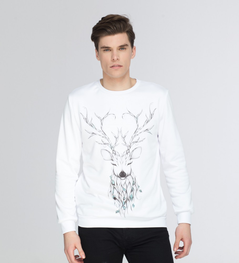 Mr. Gugu & Miss Go, Deer sketch sweater Image $i