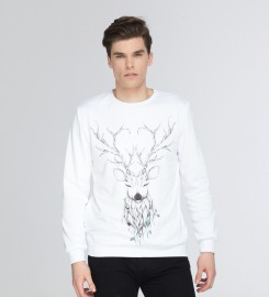 Mr. Gugu & Miss Go, Deer sketch sweater Thumbnail $i