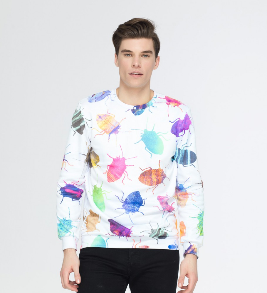 Mr. Gugu & Miss Go, Colorful Cockroaches sweater Image $i
