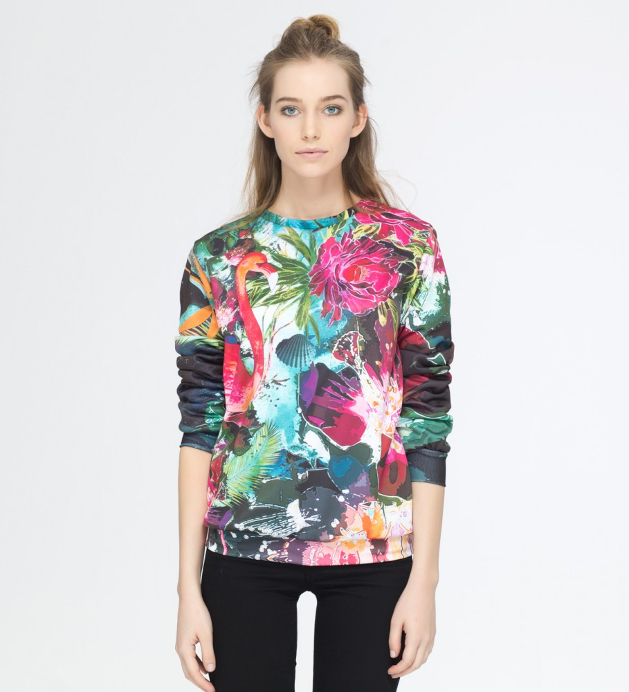 Mr. Gugu & Miss Go, Colorful Flamingo sweater Image $i
