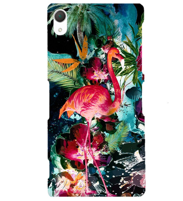 Colorful Flamingo phone case Miniature 1