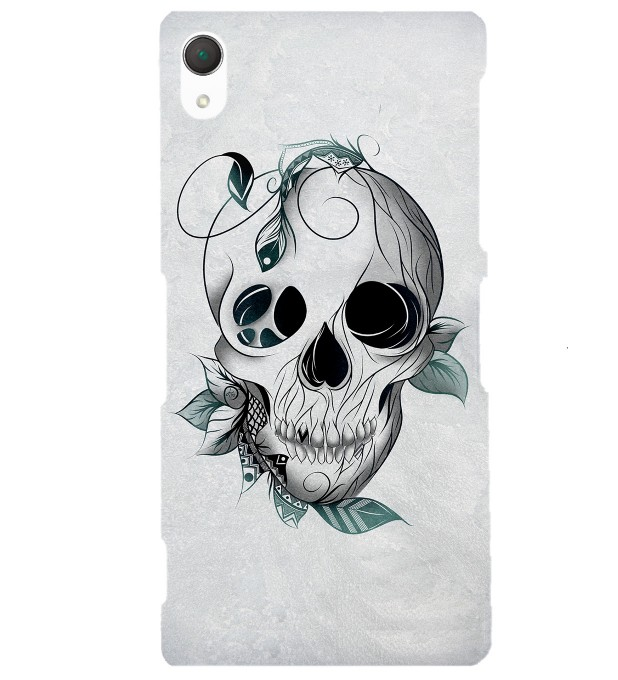 Leaf skull phone case Miniature 1