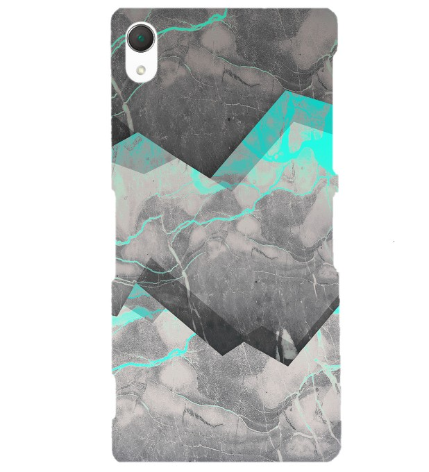 Marble Cyan phone case Miniature 1