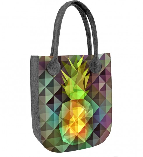Pineapple felt bag Thumbnail 1