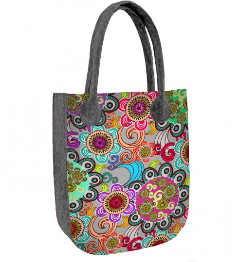 Flower Power felt bag Thumbnail 1