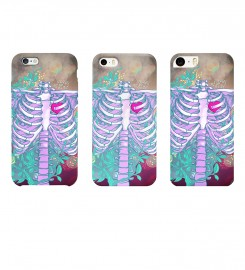 Mr. Gugu & Miss Go, Heart in chest phone case аватар $i