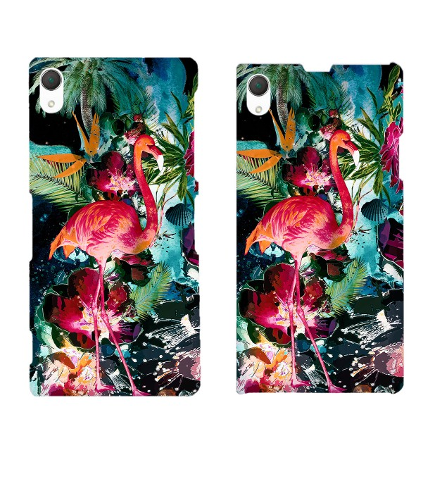 Colorful Flamingo phone case Miniature 2