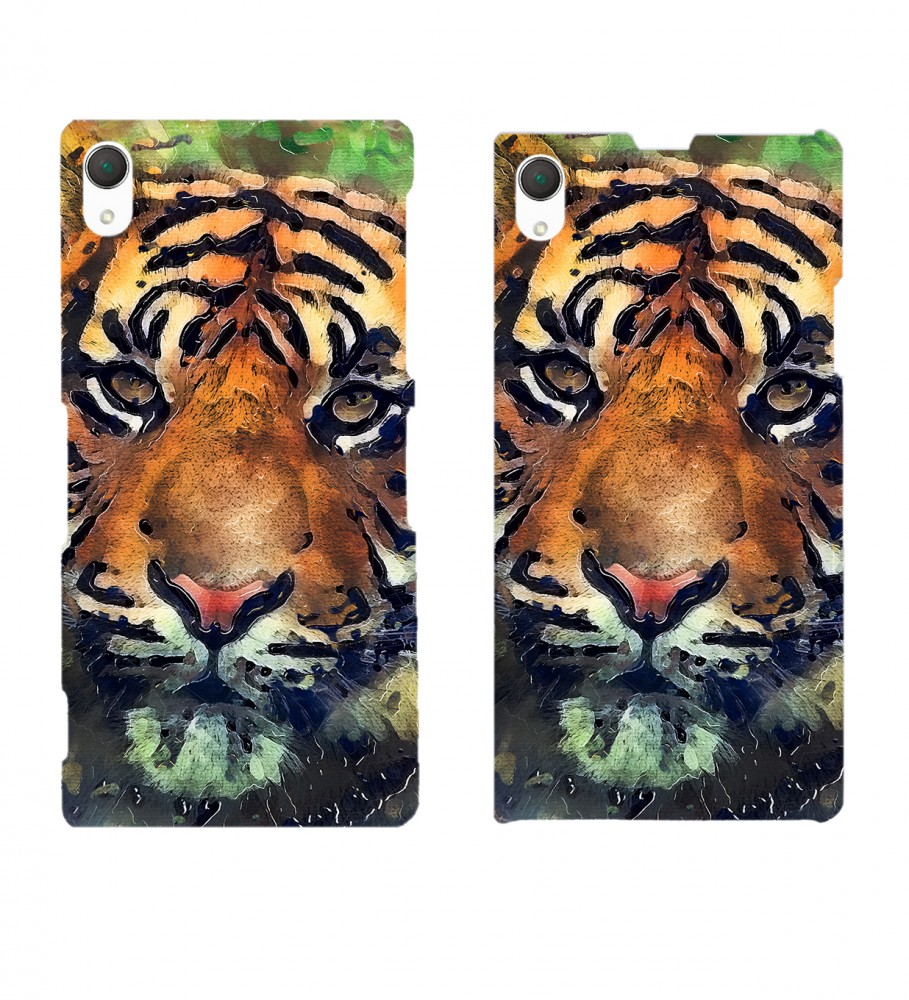 Mr. Gugu & Miss Go, Aquarelle Tiger phone case Immagine $i