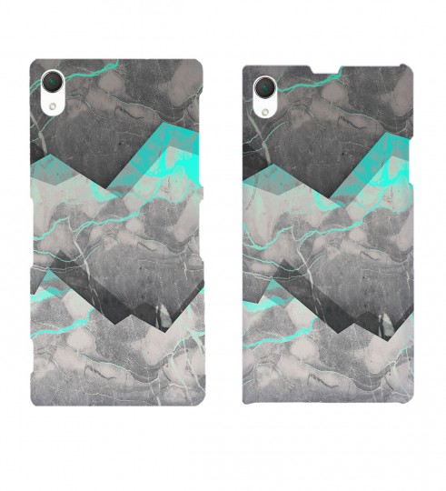 Marble Cyan phone case Miniature 2