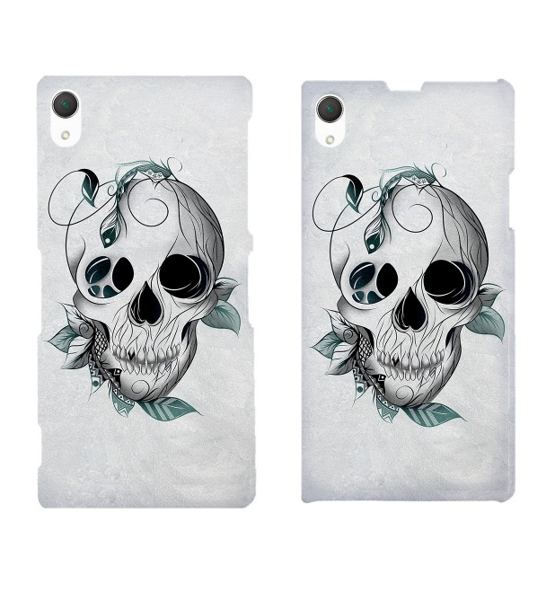 Leaf skull phone case Miniature 2