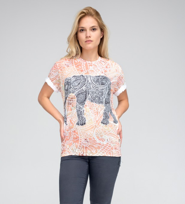 T-shirt ze wzorem Indian Elephant Miniatury 2