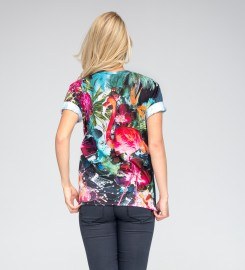 Mr. Gugu & Miss Go, Colorful Flamingo t-shirt Thumbnail $i