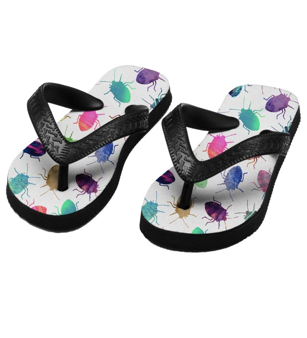 Colorful Cockroaches flip flops for kids Thumbnail 1