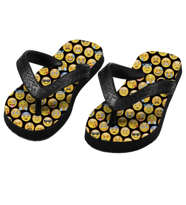 Emoji flip flops for kids Miniature 1