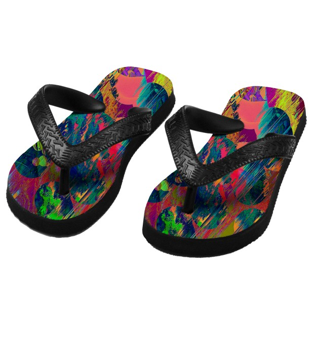 Wet Paint flip flops for kids Miniature 1