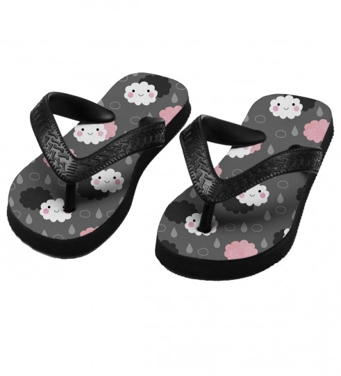 Moody weather flip flops for kids Miniature 1