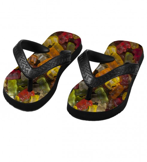 Gummy Bears flip flops for kids Miniature 1