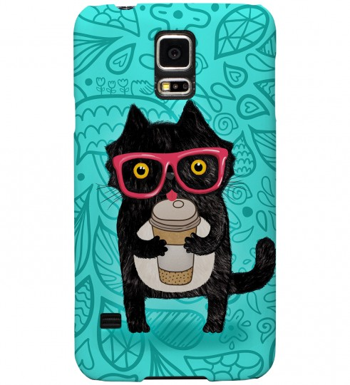 Coffee Cat phone case Thumbnail 1