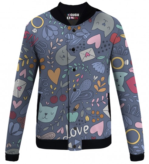 Romantic Cats baseball jacket Thumbnail 1