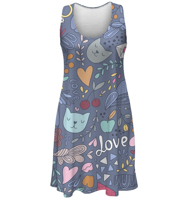 Romantic Cats minidress Thumbnail 1
