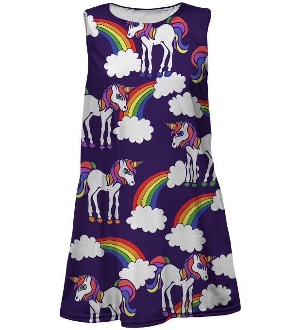 Rainbow Unicorns summer dress for kids Thumbnail 1