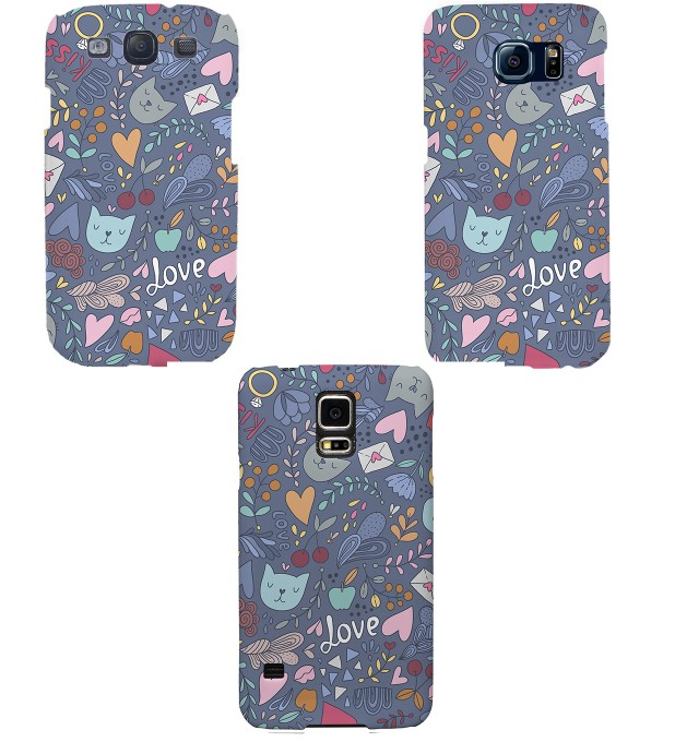 Romantic Cats phone case Miniature 2