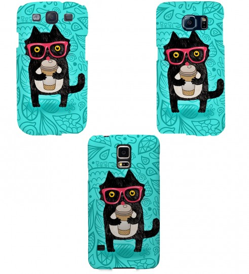 Coffee Cat phone case Thumbnail 2
