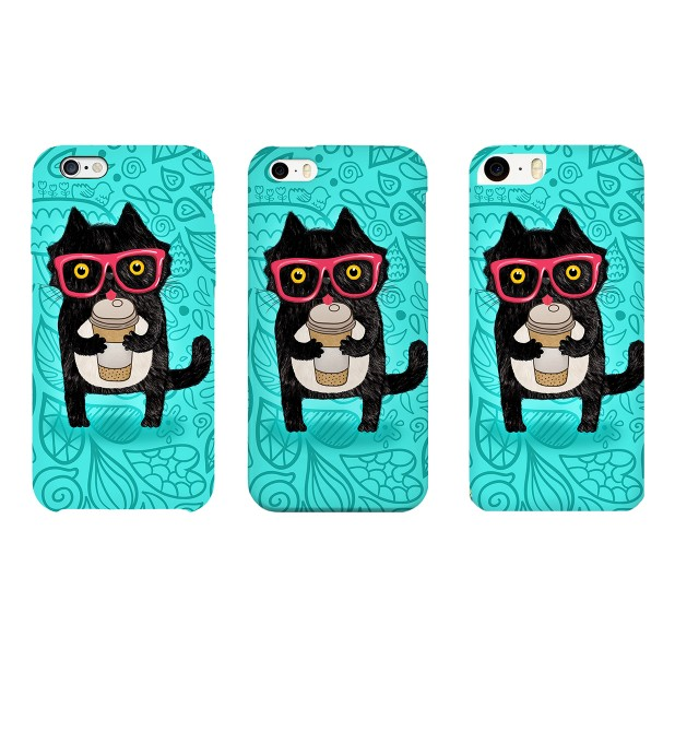 Coffee Cat phone case Miniature 2