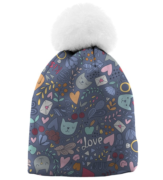 Romantic Cats casquette beanie Miniature 1