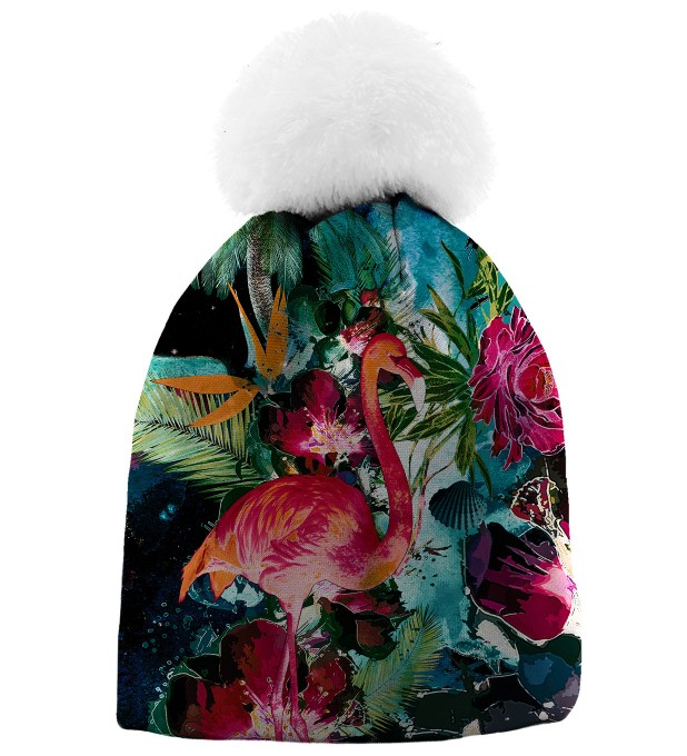 Colorful Flamingo casquette beanie Miniature 1