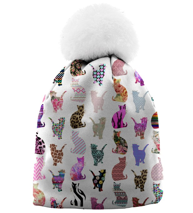 Comic Cat pattern casquette beanie Miniature 1
