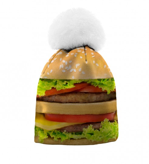 Hamburger beanie for kids Thumbnail 1