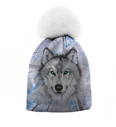 Wolves beanie for kids Thumbnail 1