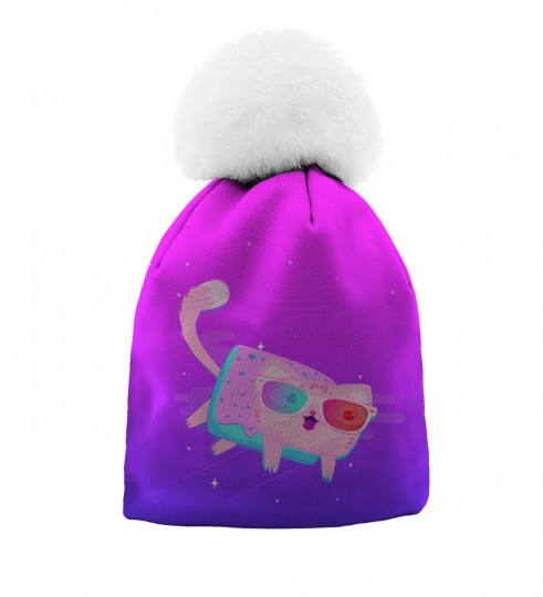 Flying Cat beanie for kids Thumbnail 1