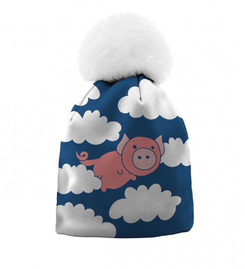 Flying Pigs beanie for kids Thumbnail 1