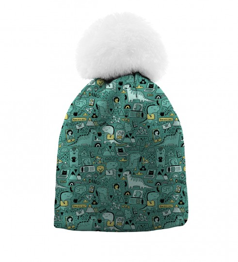 Dino Tech beanie for kids Thumbnail 1