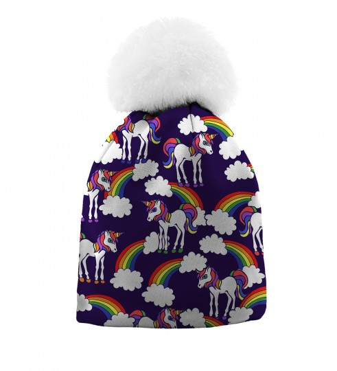 Rainbow Unicorns beanie for kids Thumbnail 1