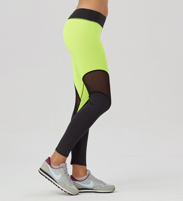 Green Fluo leggings Miniature 2