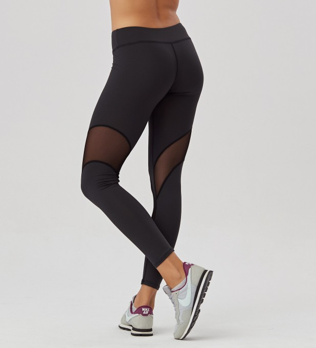 Black Mesh leggings Miniatura 2