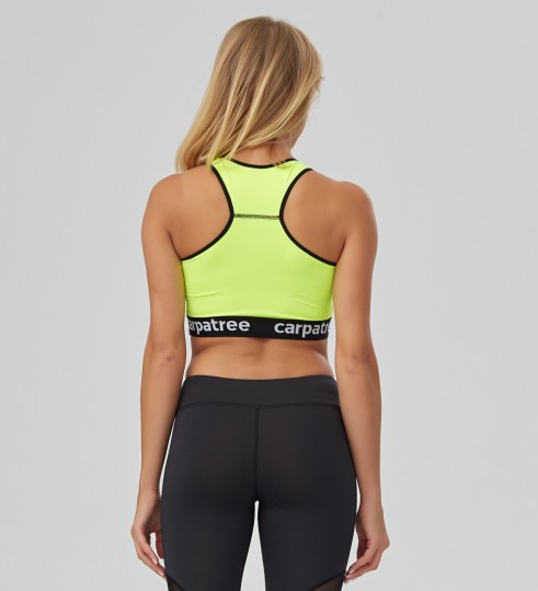 Fluo Green Crop top Thumbnail 2