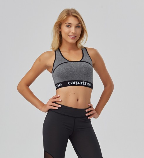 Grey Crop top Thumbnail 1