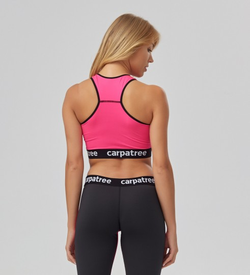 Fluo Pink Crop top Thumbnail 2